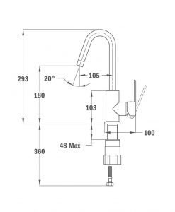 Висок смесител за мивка NEXOS Б.197.хром
