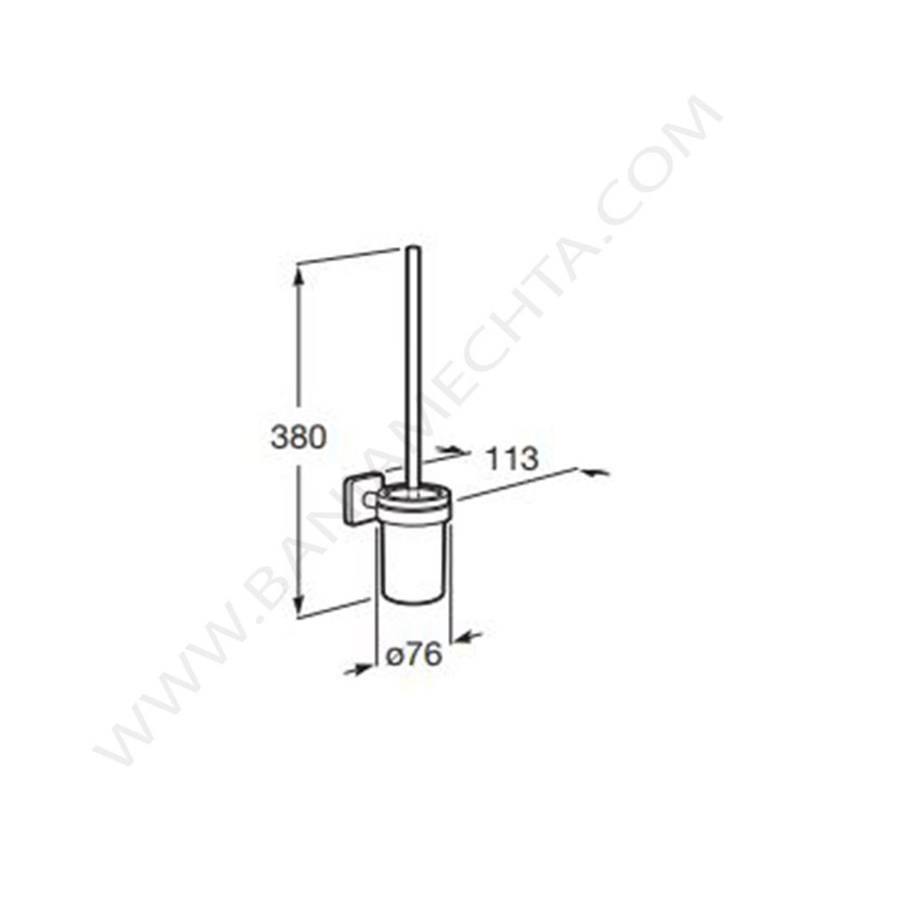 Четка за тоалетна стенна ROCA VICTORIA A816667001