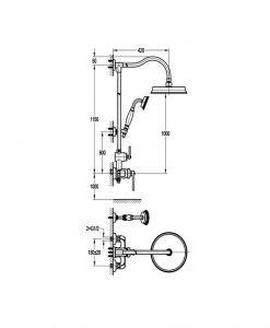 Душ система NOVARA TREND BS7629-101 ORB