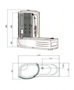 Вана с душ кабина Валия ICSH 8020