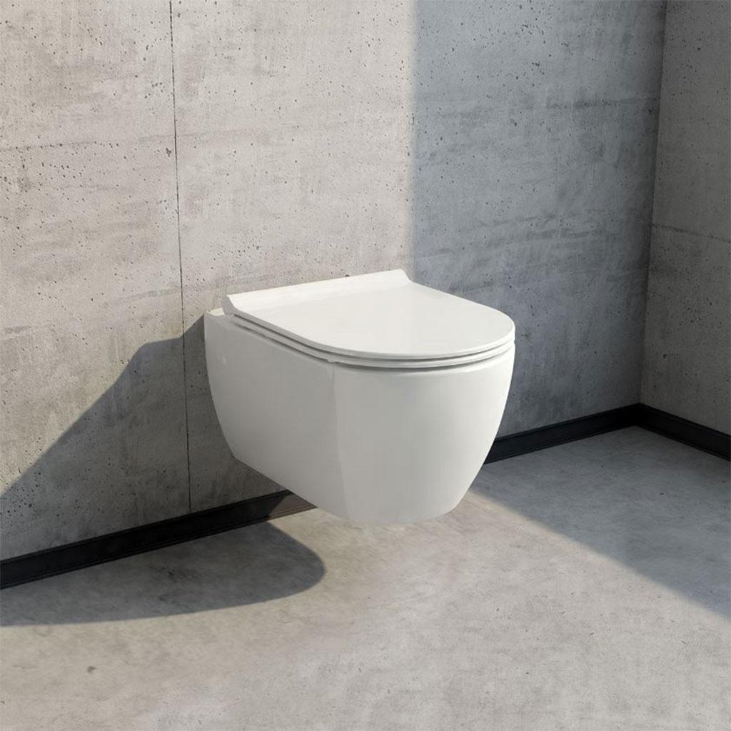 Окачена тоалетна с ултра тънък Soft Close капак PIZA
