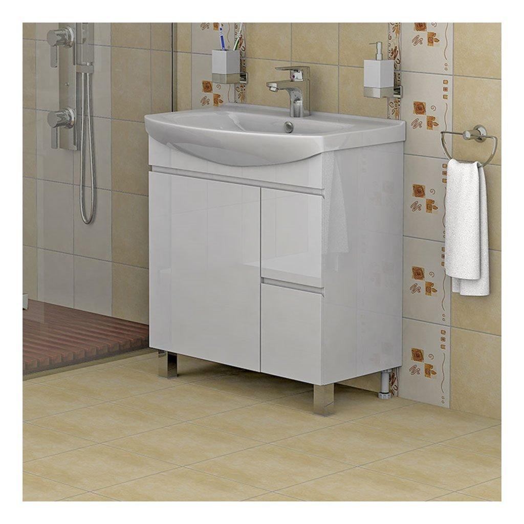 PVC шкаф с мивка модел Флорида 75