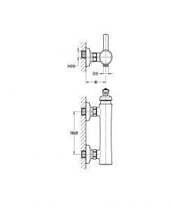 Смесител за душ NOVARA TREND BS7609-100 ORB