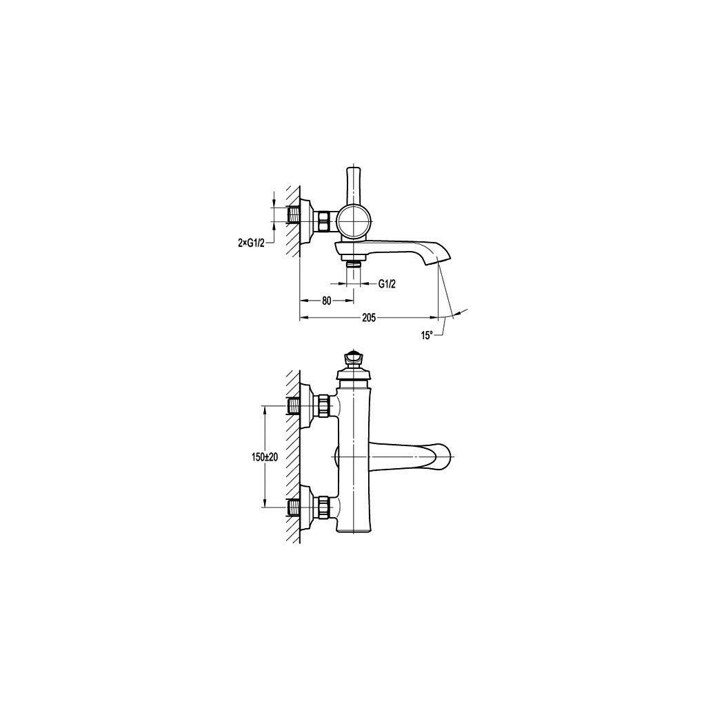 Смесител за ванадуш NOVARA TREND BS7109-100 ORB