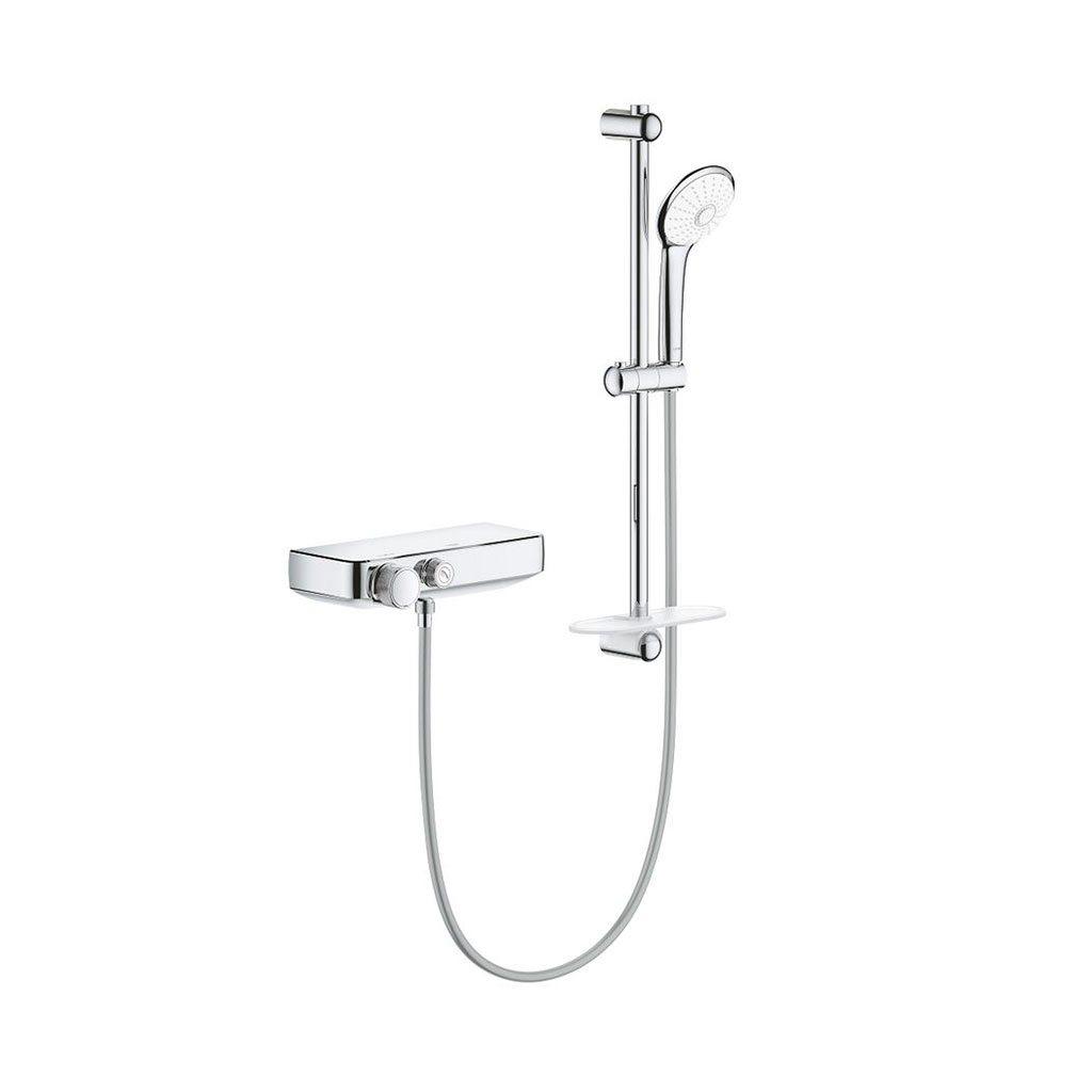 Термостатен смесител за душ, 12″ С душова гарнитура GROHE GROHETHERM SMARTCONTROL 34720000
