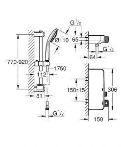 Термостатен смесител за душ Grohtherm SmartControl 34721000