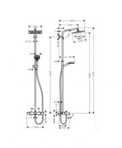 Термостатна душ колона с чучур HANSGROHE CROMETTA E240 27298000
