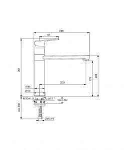 Черен смесител за кухня с висок тръбен чучур VIDIMA SEVA L BC393OZ