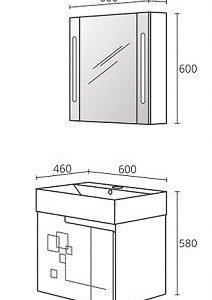 Комплект PVC шкаф за баня модел Грация