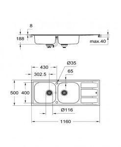 Кухненска мивка GROHE K400 31587SD0