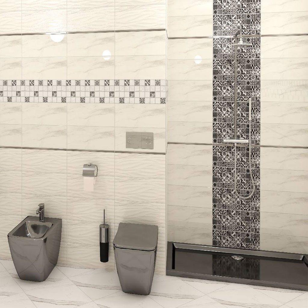 Плочки за баня тип мрамор серия CARRARA 2050