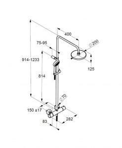 Термостатна душ колона KLUDI LOGO 1S 6809505-00