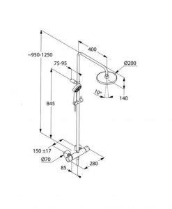 Термостатна душ колона KLUDI LOGO 3S 6809205-00