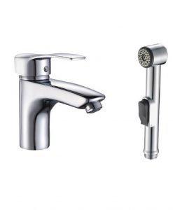 Месингов смесител с хигиенен душ ICF 1671305 QUADRAT