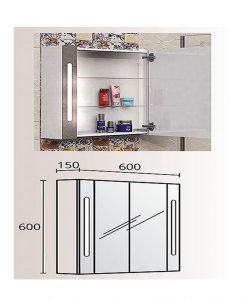 Огледален PVC шкаф модел Грация 60