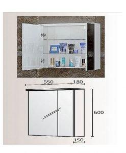 Огледален PVC шкаф модел Модена 55
