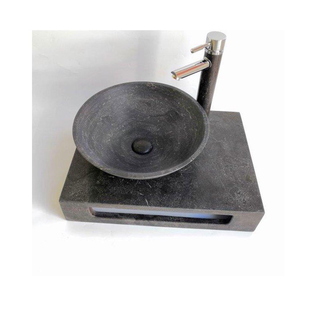 Плот с умивалник от варовик 5842BL