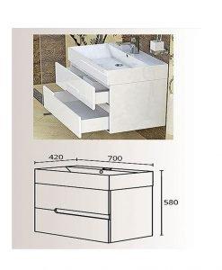 PVC шкаф долна част с мивка Гала