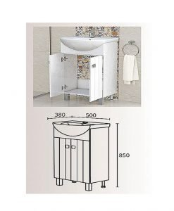PVC шкаф с мивка модел Хавана 50