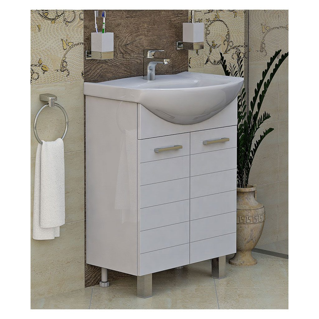 PVC шкаф с мивка модел Корнер 60