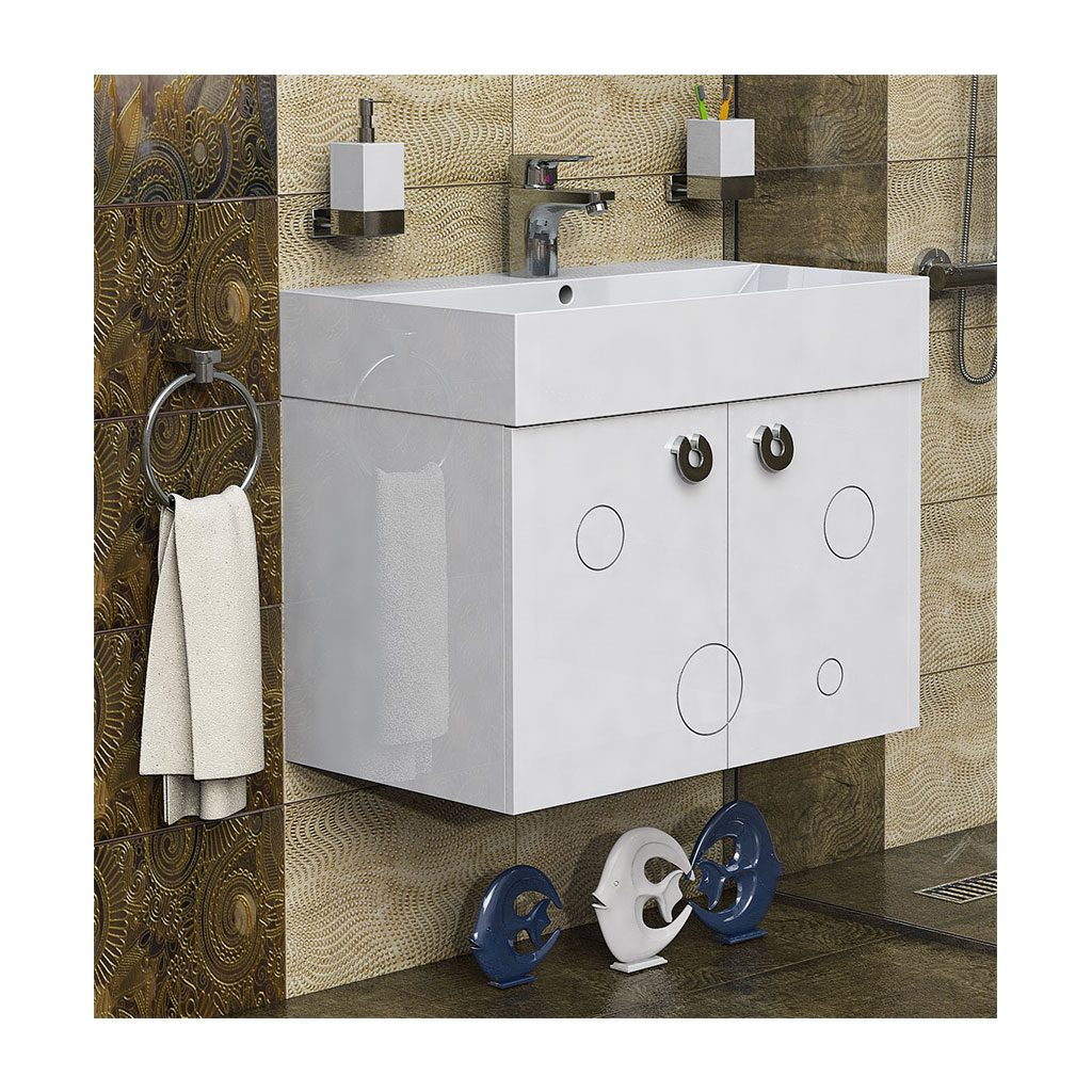 Шкаф с мивка PVC шкаф за баня модел Мио 70