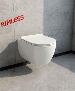 Конзолна тоалетна модел Piza Rimless с капак Soft Close