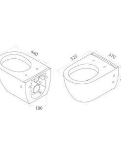 Конзолна тоалетна модел Piza Rimless с биде и капак Soft Close