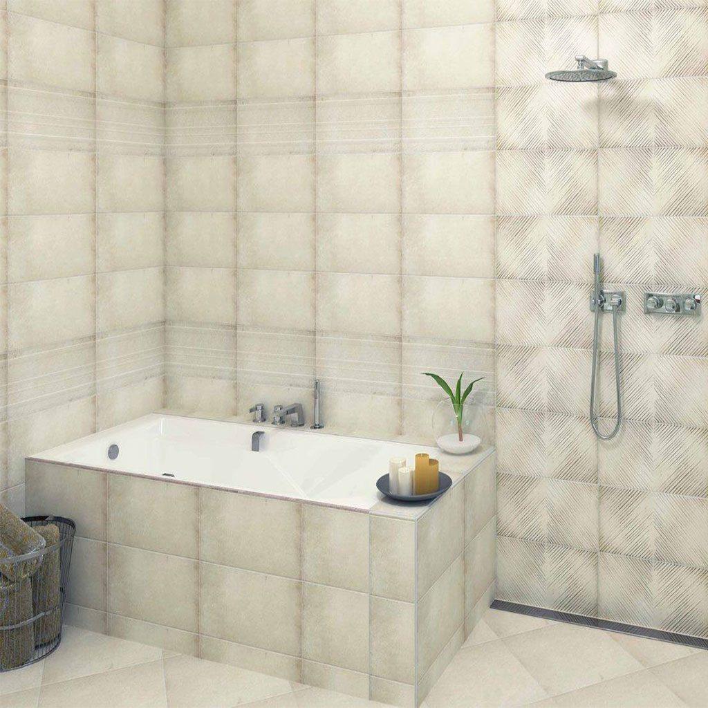 Плочки за баня серия LUCAN CREAM 2550