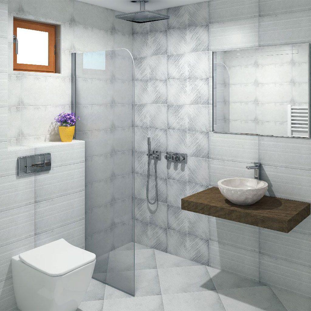 Плочки за баня серия LUCAN GREY 2550