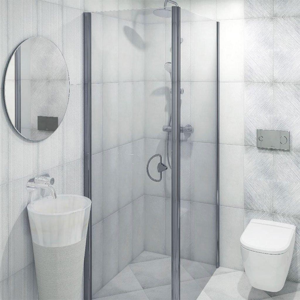 Плочки за баня серия LUCAN WHITE 2550