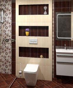 Плочки за баня серия PINO GRAPHITO 25*40