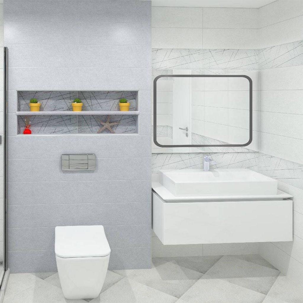 Плочки за баня серия SPACE BLANCO 2060