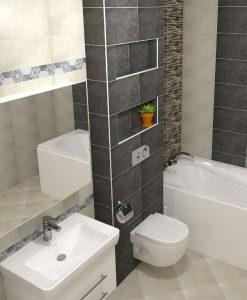 Плочки за баня серия TECHNIC GRAFITO 25*40
