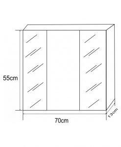Горен PVC шкаф ICMC 1055-70