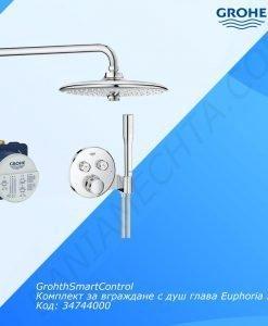 GrohthSmartControl термостатен комплект за вграждане 34744000