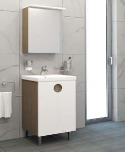 Комплект шкаф за баня ВИСОТА Оля 50 от PVC/HPL