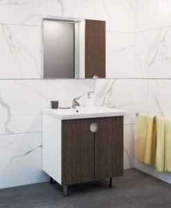 Комплект шкаф за баня VISOTA Оля 70 от PVC/HPL