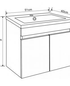 PVC шкаф долна част с мивка 5082