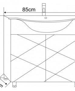 PVC шкаф долна част с мивка АДЕАН 8585