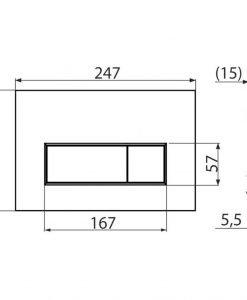 Бутон за вградено казанче Alcaplast M572 хром-мат