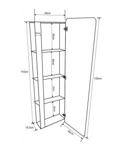 PVC колона за баня модел Амелия 3017