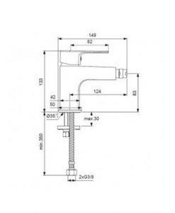 Смесител за биде Ideal Standard Esla BC226AA