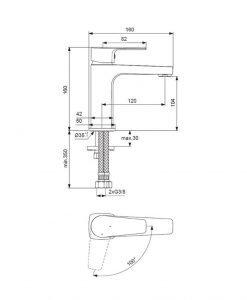 Смесител за умивалник Ideal Standard Esla BC223AA