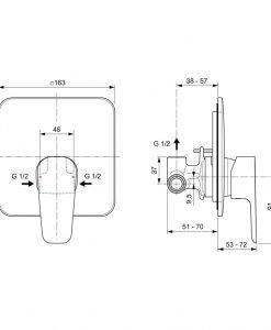 Вграден смесител за душ  Ideal Standard Esla A6946AA