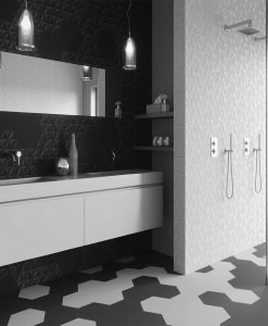 Гранитогрес серия Hexa Malmo Black & White 23*27