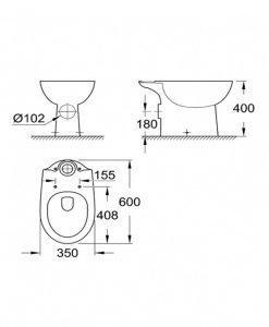 Моноблок Bau Ceramic Grohe 39428000