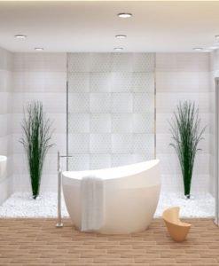 Плочки за баня модел SUBWAY BLANCO 33.3*55