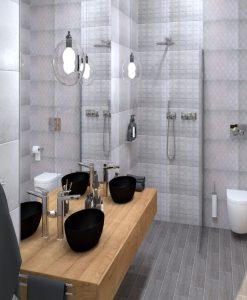 Плочки за баня модел SUBWAY GRIS 33.3*55