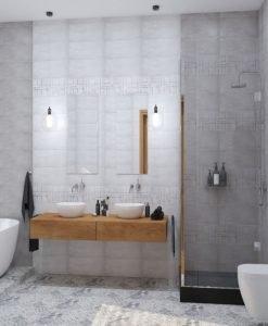 Плочки за баня модел TRAVIS PERLA  20*60