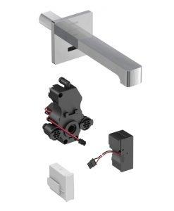 Смесител за умивалник с фотоклетка и вградено управление стенен GEBERIT BRENTA 116.272.21.1